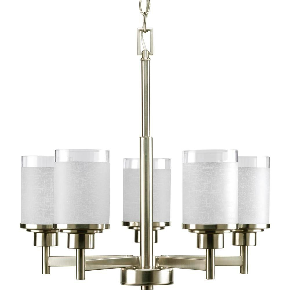 Progress Lighting Alexa Collection 20 In 5 Light Brushed Nickel