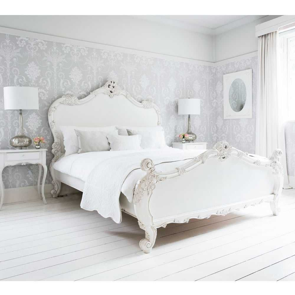 Provencal Sassy White French Bed Romantic French Bed Luxury