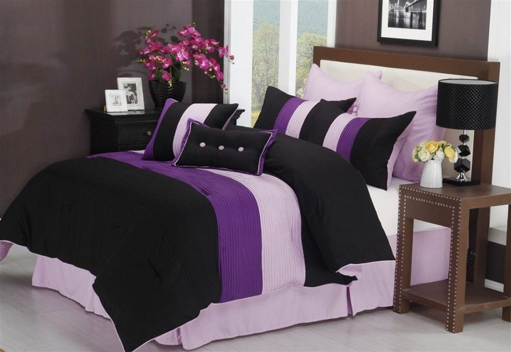 Purple And Black Bedroom Ideas Ibsdietplan Decoration