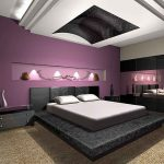 Black and Purple Bedroom Designs Ideas