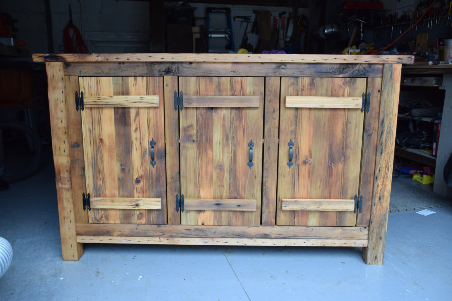 Reclaimed Wood Rustic Buffet Farmhouse Buffet Table Entryway Etsy