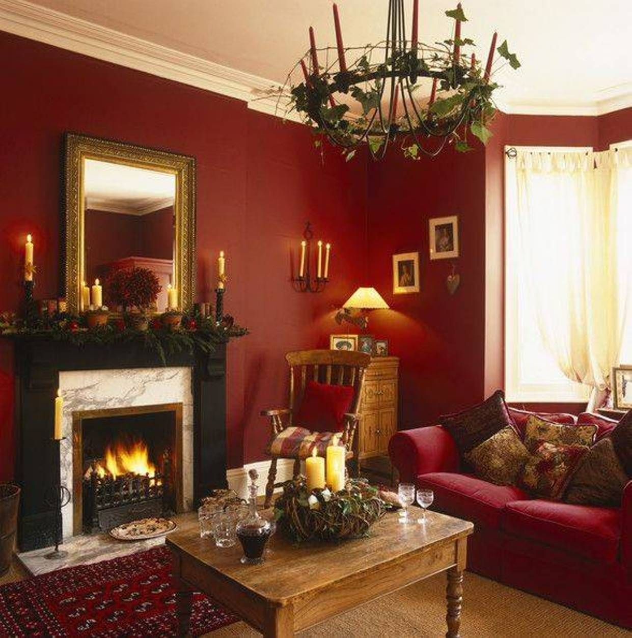 Red Gold Brown Color Scheme Google Search Colorful Living Rooms Layjao