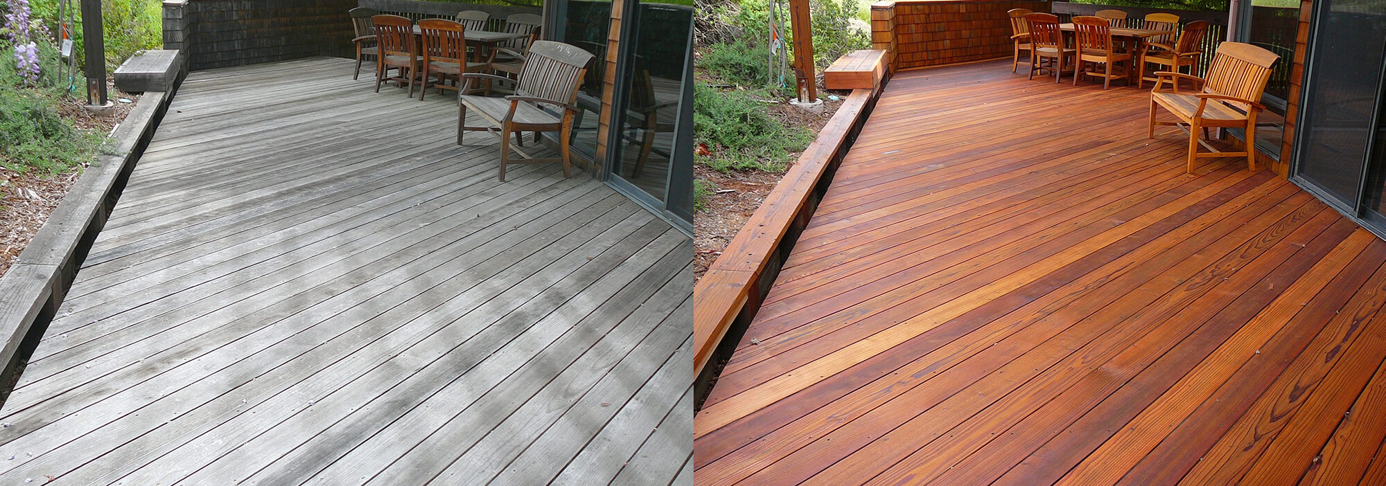Redwood Deck Before After Cleaning And Preserving Cal Preserving