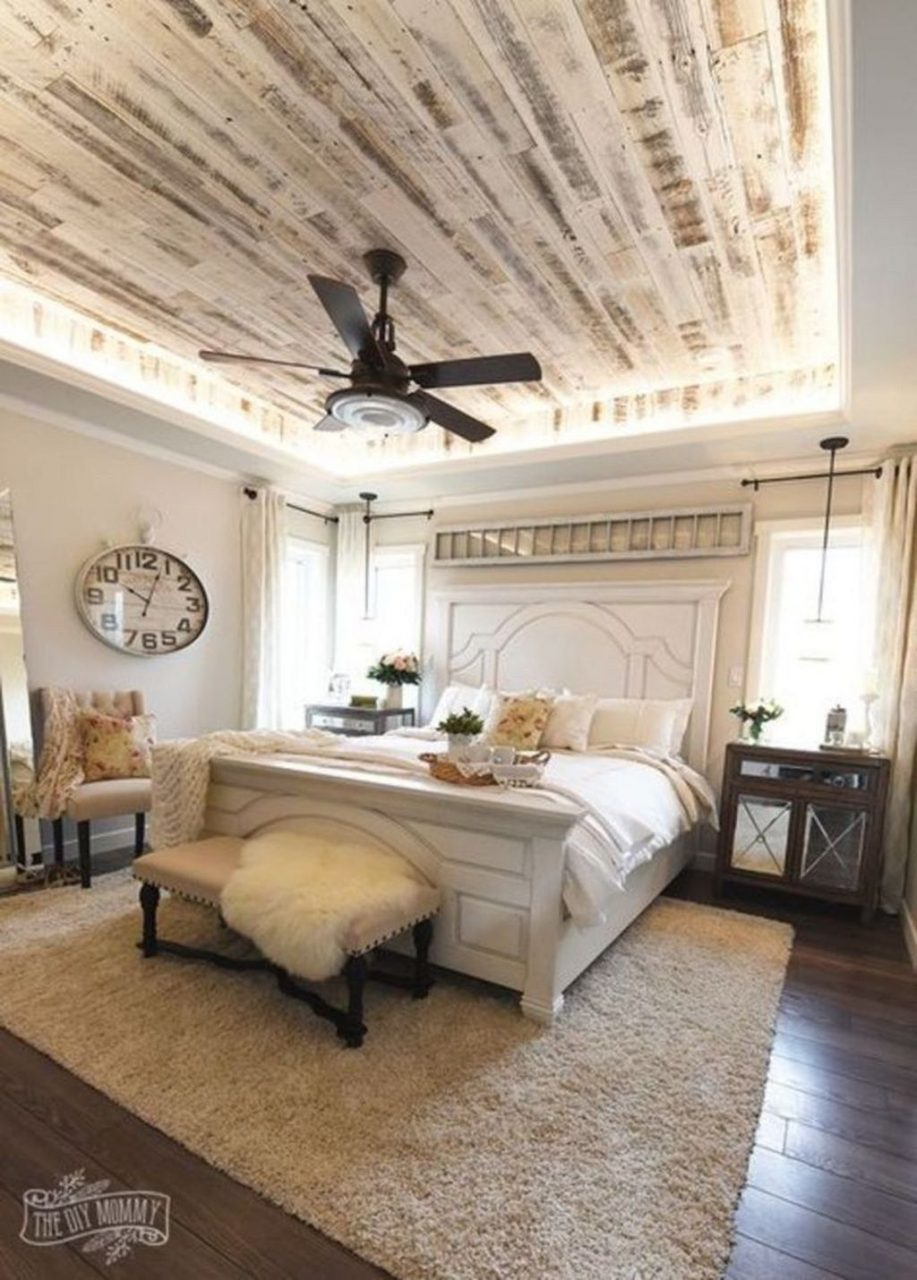 Relaxing Rustic Farmhouse Master Bedroom Ideas 38 Wohnen