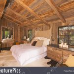 Rustic Log Cabin Bedroom