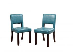 Teal Leather Dining Room Chairs