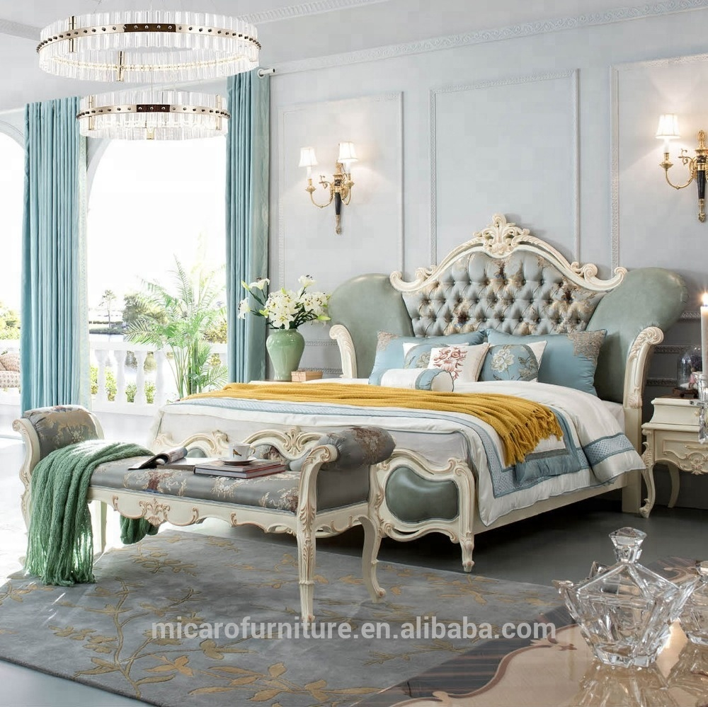 Romantic French Style New Classic New Model King Size Bed White