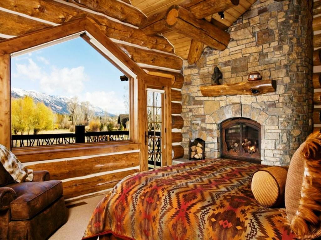 Rustic Cabin Bedrooms Traditional Style Glamorous Bedroom Design