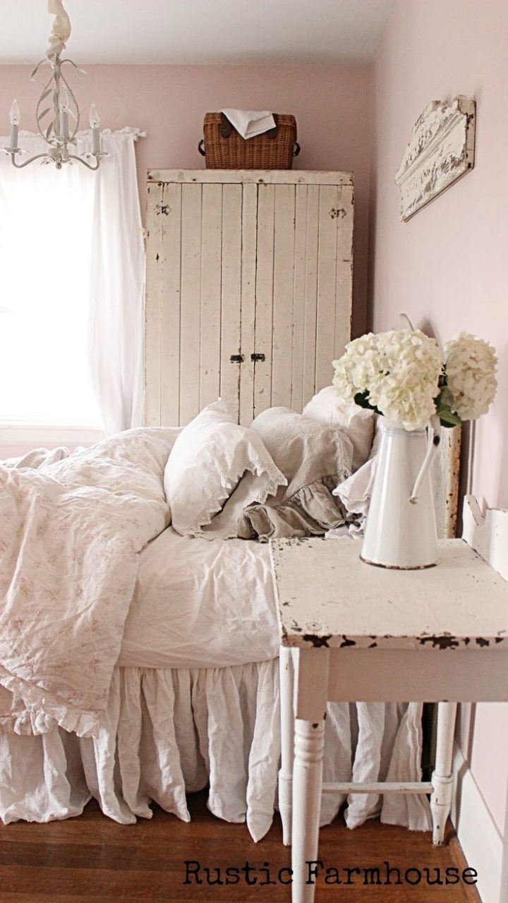 Rustic Farmhouse Bedroom Home Makeover Shab Chic Farmhouse