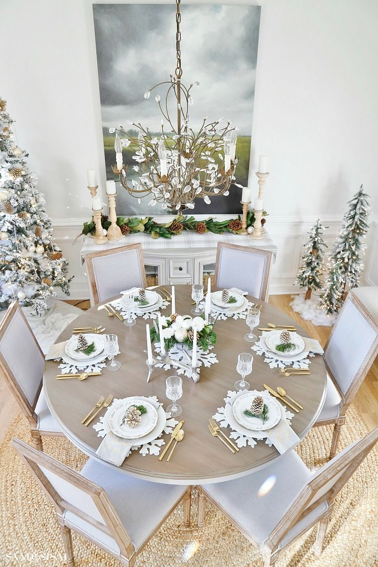 Rustic Glam Christmas Dining Room Sand And Sisal Blog Pinterest