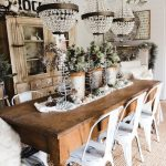 Christmas Dining Table Rustic Glam Decor