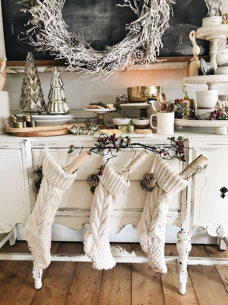 Rustic Glam Cottage Christmas Dining Room Cottage Love