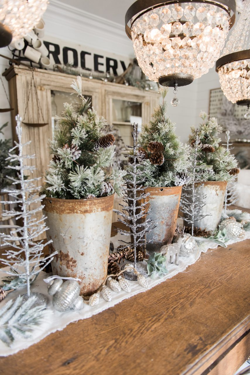 Rustic Glam Farmhouse Christmas Dining Room Liz Marie Blog