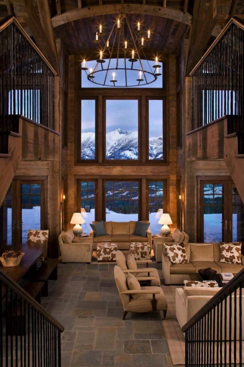 Rustic Mountain Retreat In Big Sky Resembles An Old Lodge Stuff