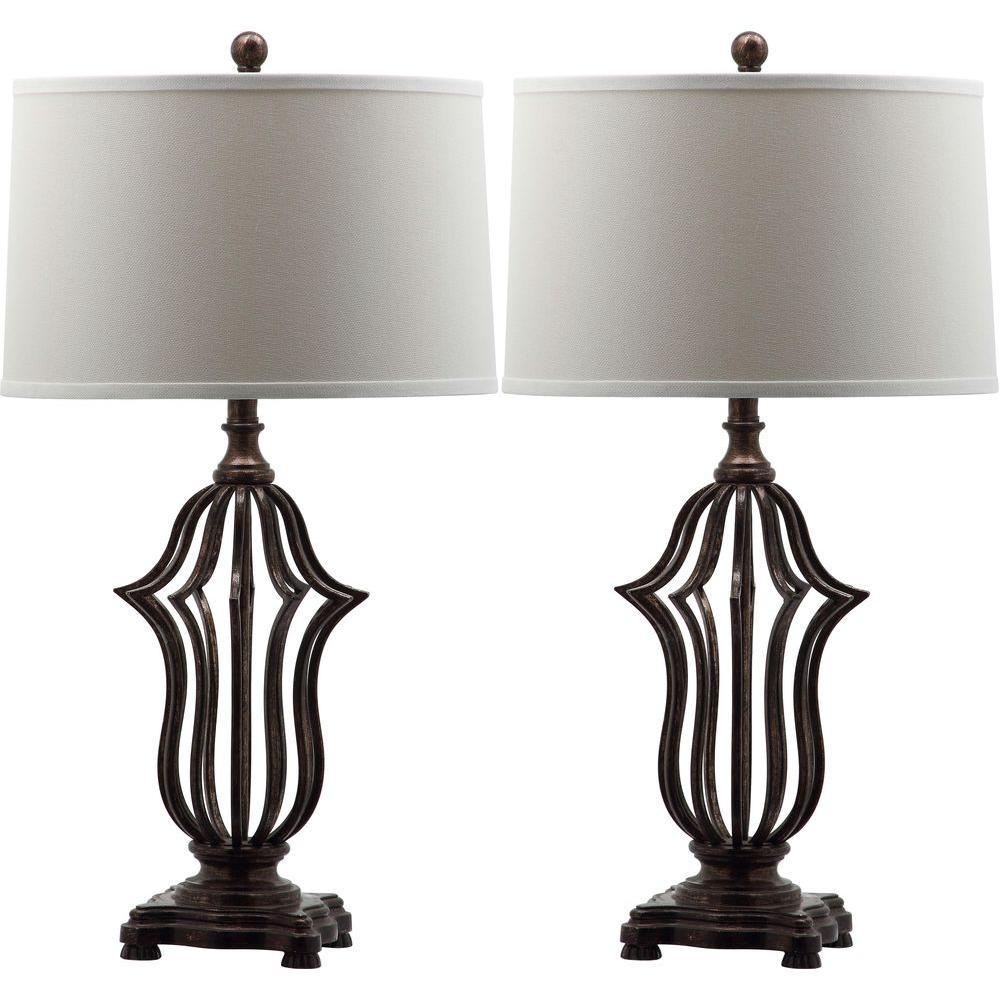 Safavieh Chloe Sculpture 305 In Oil Rubbed Bronze Table Lamp With