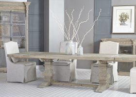 Salvaged Wood Trestle Dining Table Rectangular