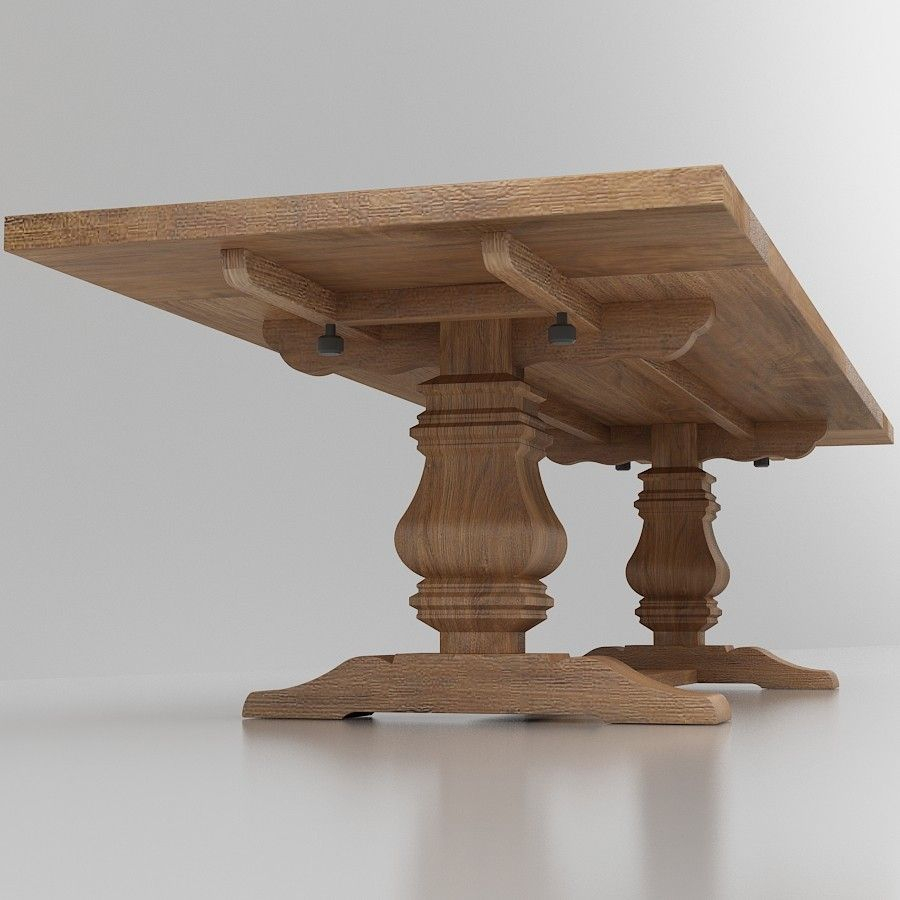 Salvaged Wood Trestle Extension Dining Table Masa Pinterest