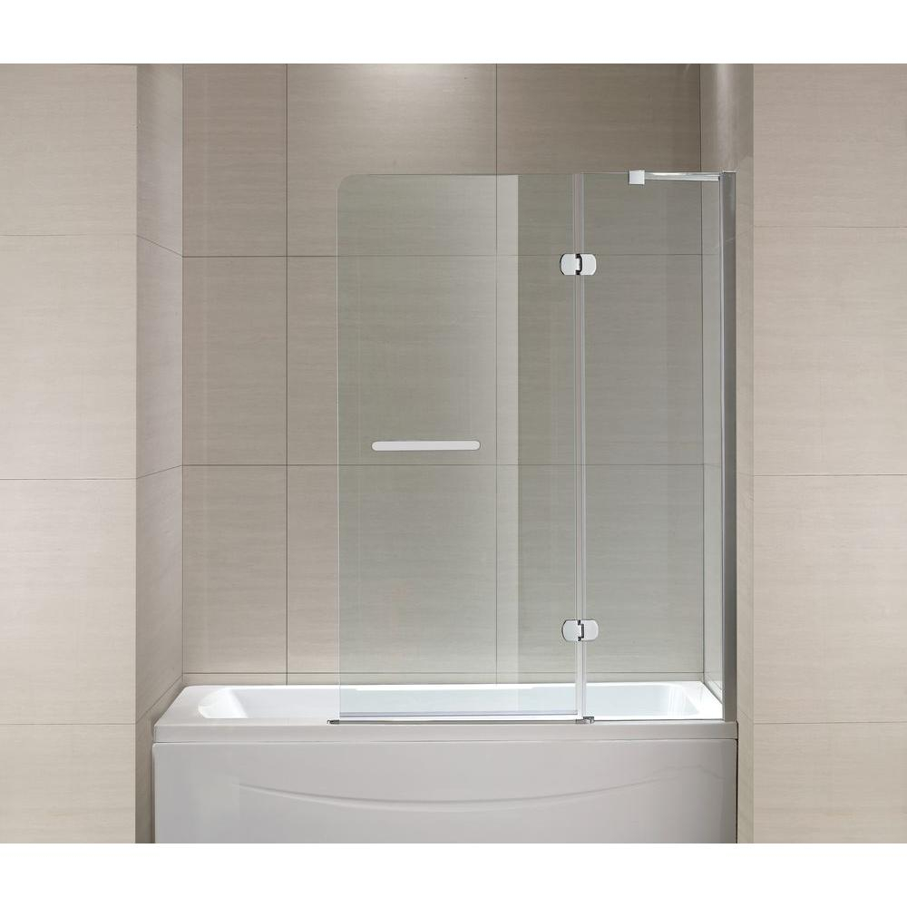 Schon Mia 40 In X 55 In Semi Framed Hinge Tub And Shower Door In