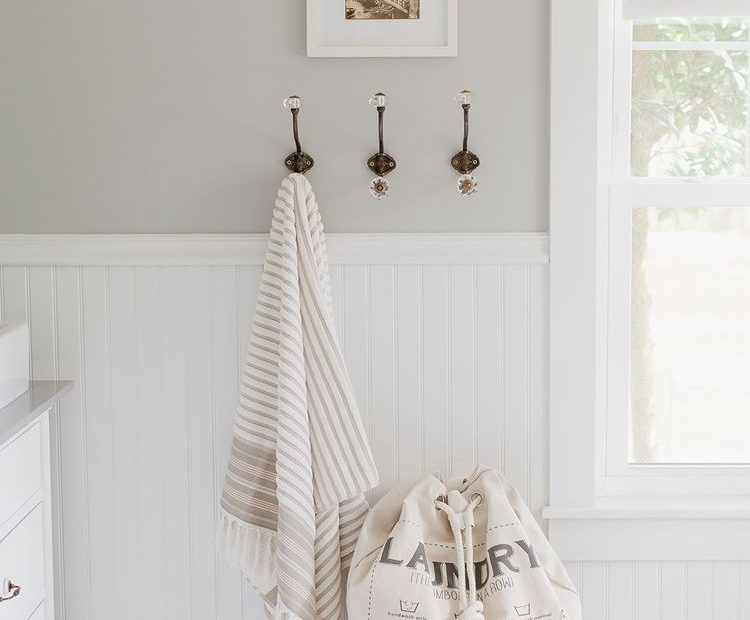 Sherwin Williams Light French Gray Opposite White Wainscoting