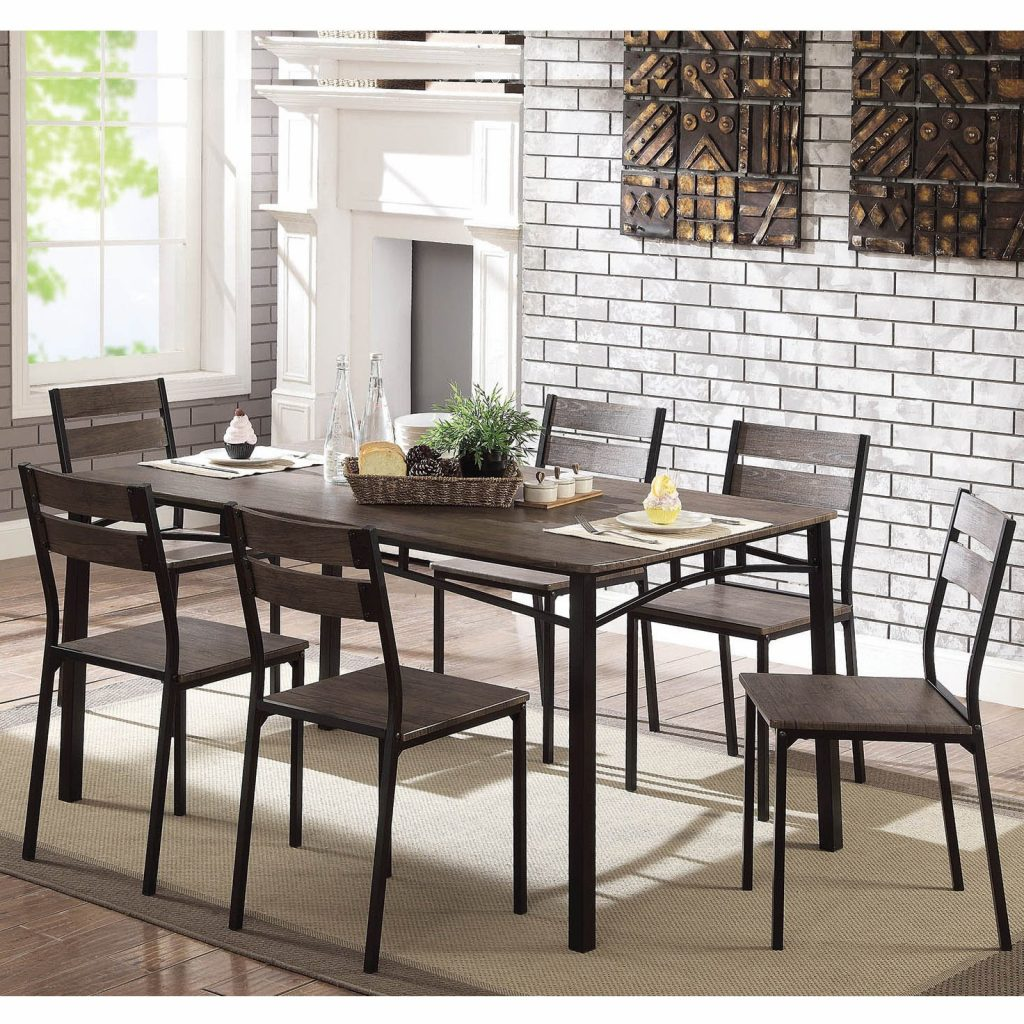 Shop Furniture Of America Patton 7 Piece Rustic Modern Farmhouse