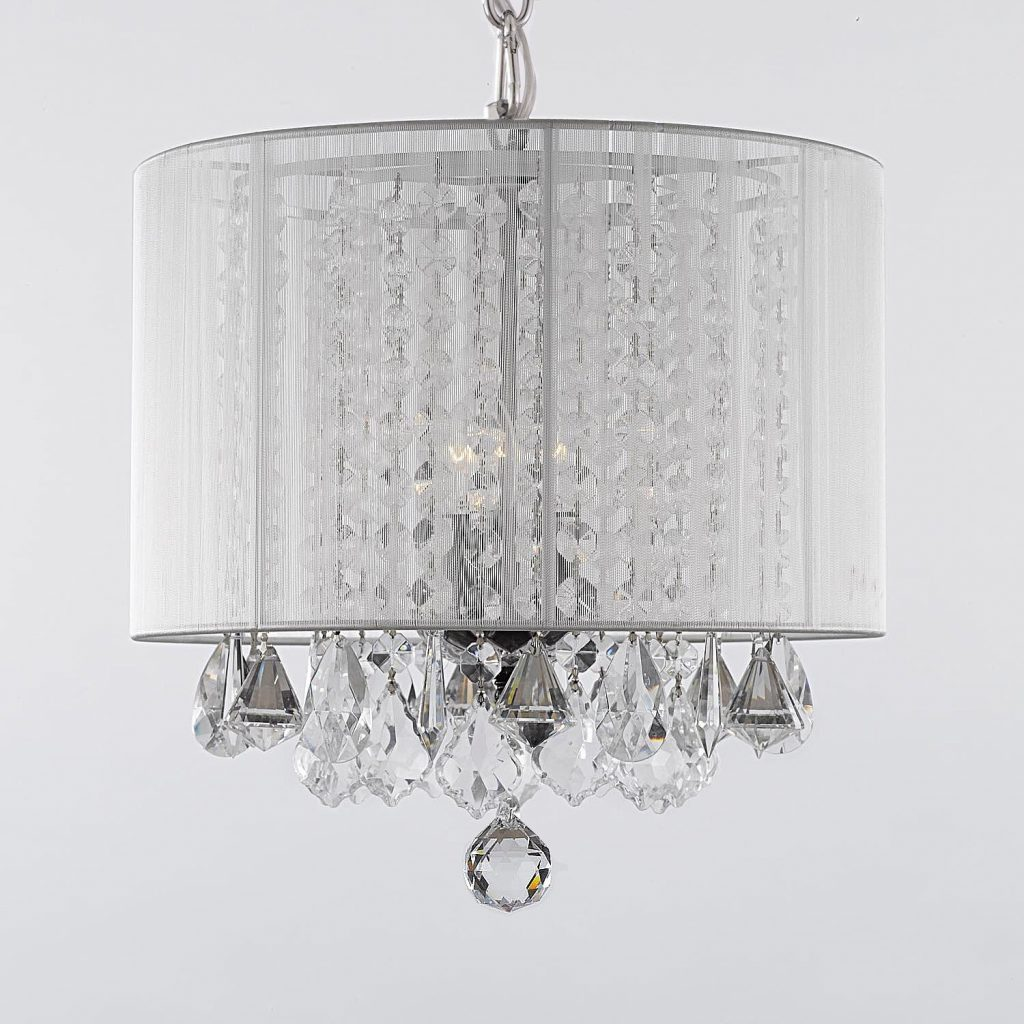 Shop Gallery 3 Light Crystal Chandelier With Shade Free Shipping