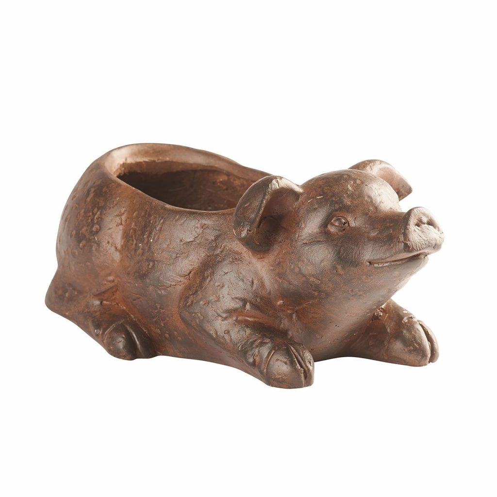 Shop Pig Planter Outdoor Safe Resin With Drainage Hole 13 X 6