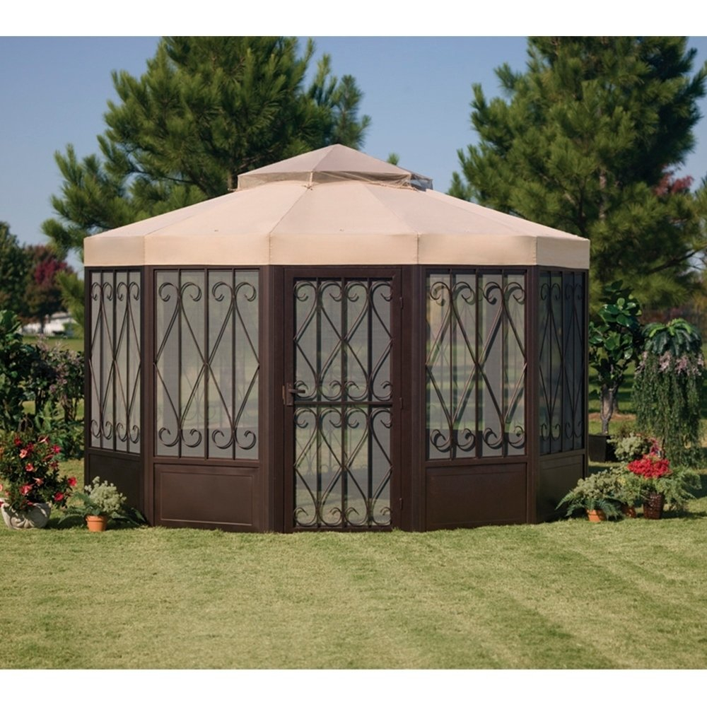 Shop Sunjoy Replacement Canopy Set For L Gz050pst 4 Sunhouse Gazebo