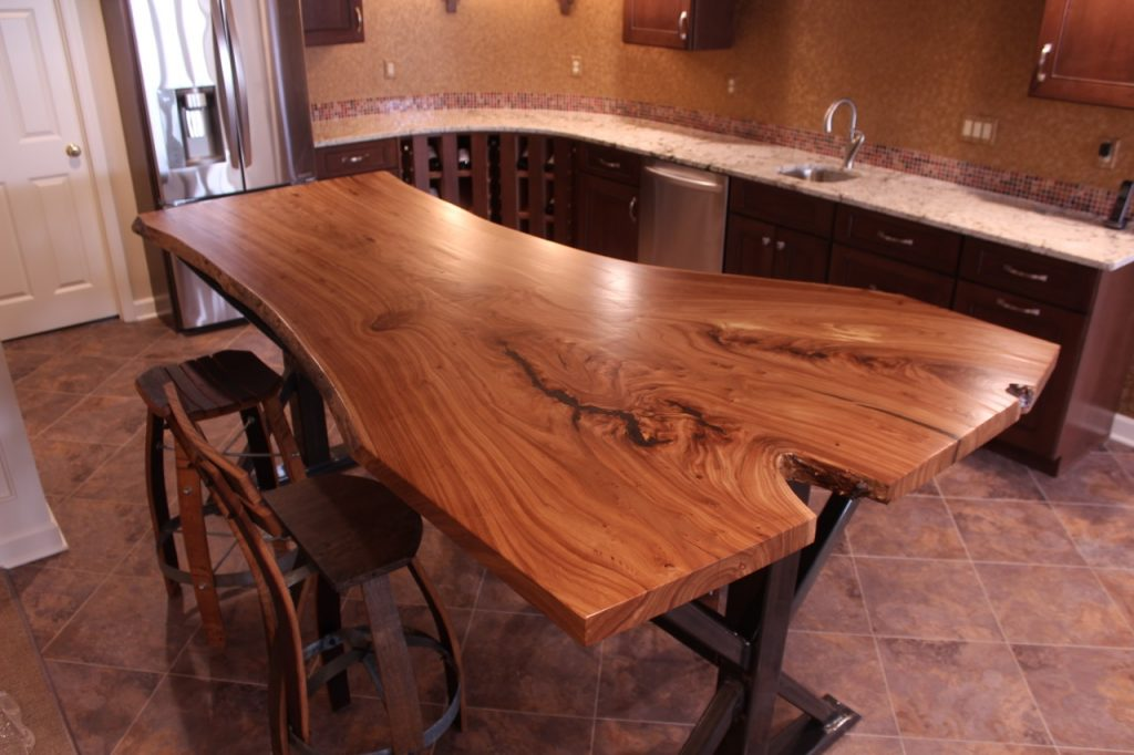 Siberian Elm Live Edge Slab Table Top 1 Wunderwoods