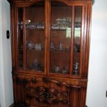 Sideboards Appealing Solid Wood China Cabinet Solid Cherry China