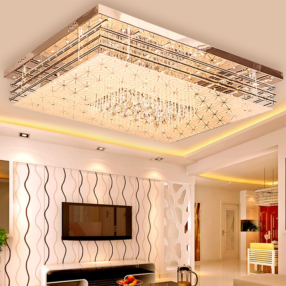 Simple Modern Ceiling Lamp Home Rectangular Lamp Chandelier Bedroom
