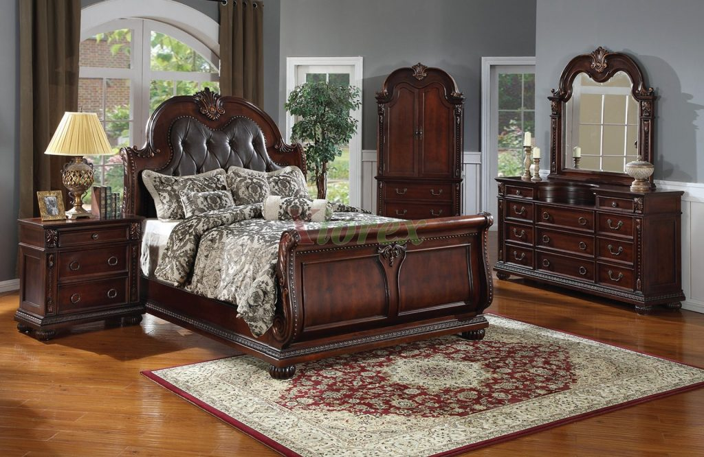 Sleigh Bed With Leather Headboard King Size Headboard Queen Size Bed