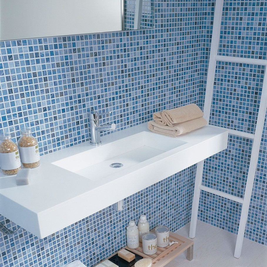 Small Blue Bathroom Tiles Impressive Ideas Decor Awesome Tile
