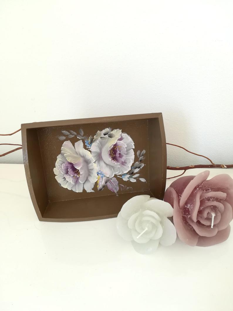 Small Decorative Tray For Bathroom Trays For Decor Trays For Etsy
