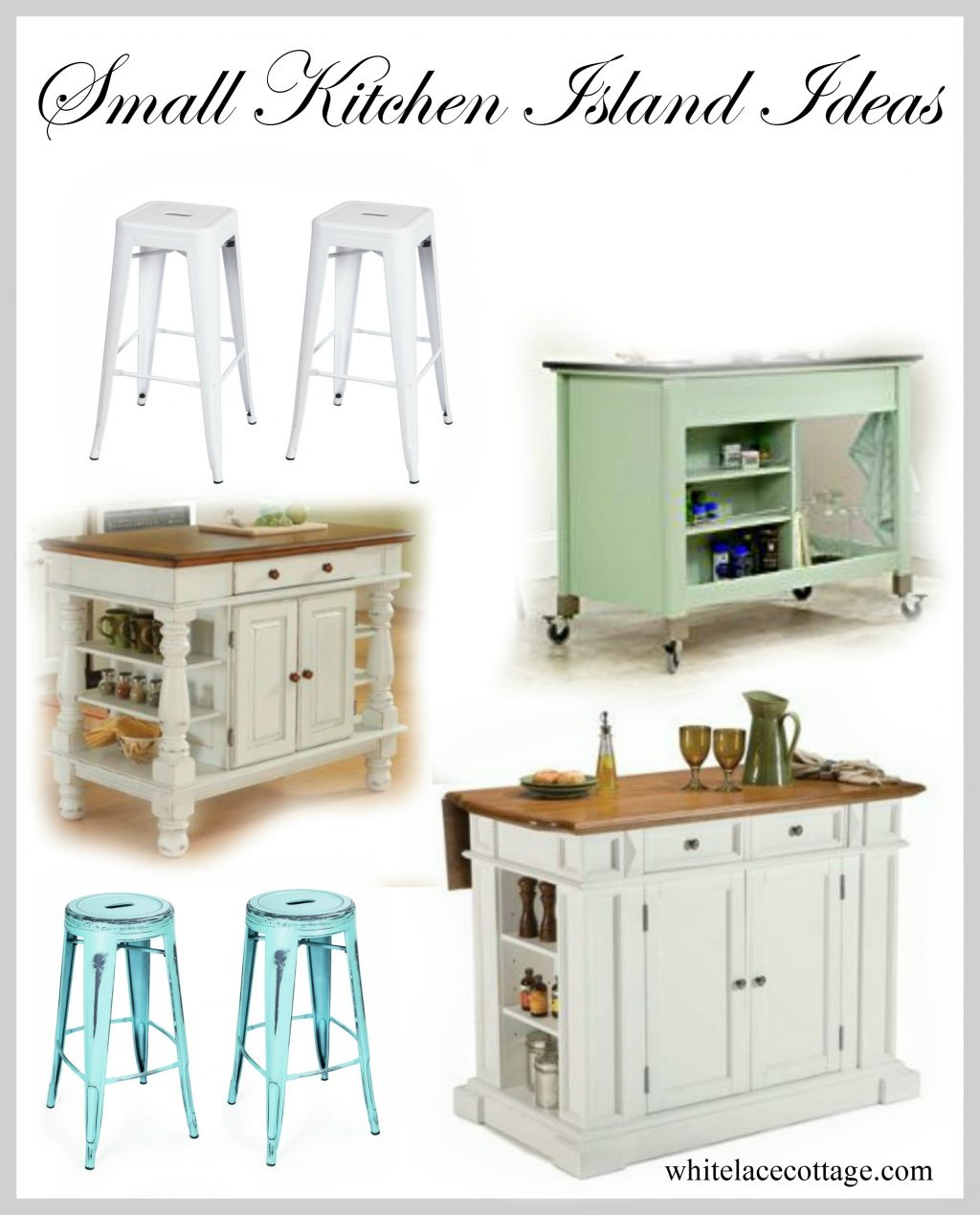 Small Kitchen Island Ideas With Seating White Lace Cottage Small