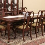 Sold Knob Creek Cherry 1992 Vintage Dining Set Table 8 Chairs