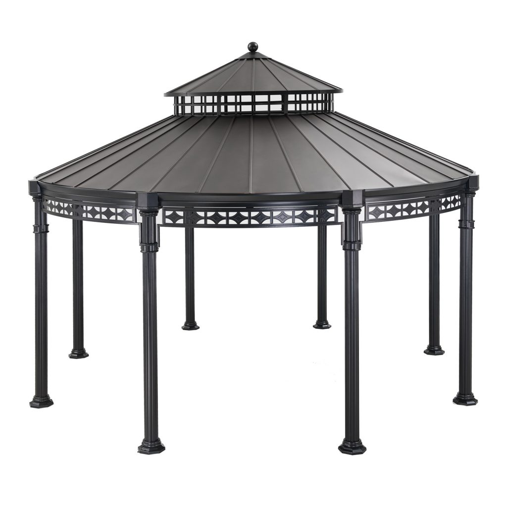 Sunjoy Kwindsor Round 14 Ft W X 14 Ft D Metal Patio Gazebo Wayfair