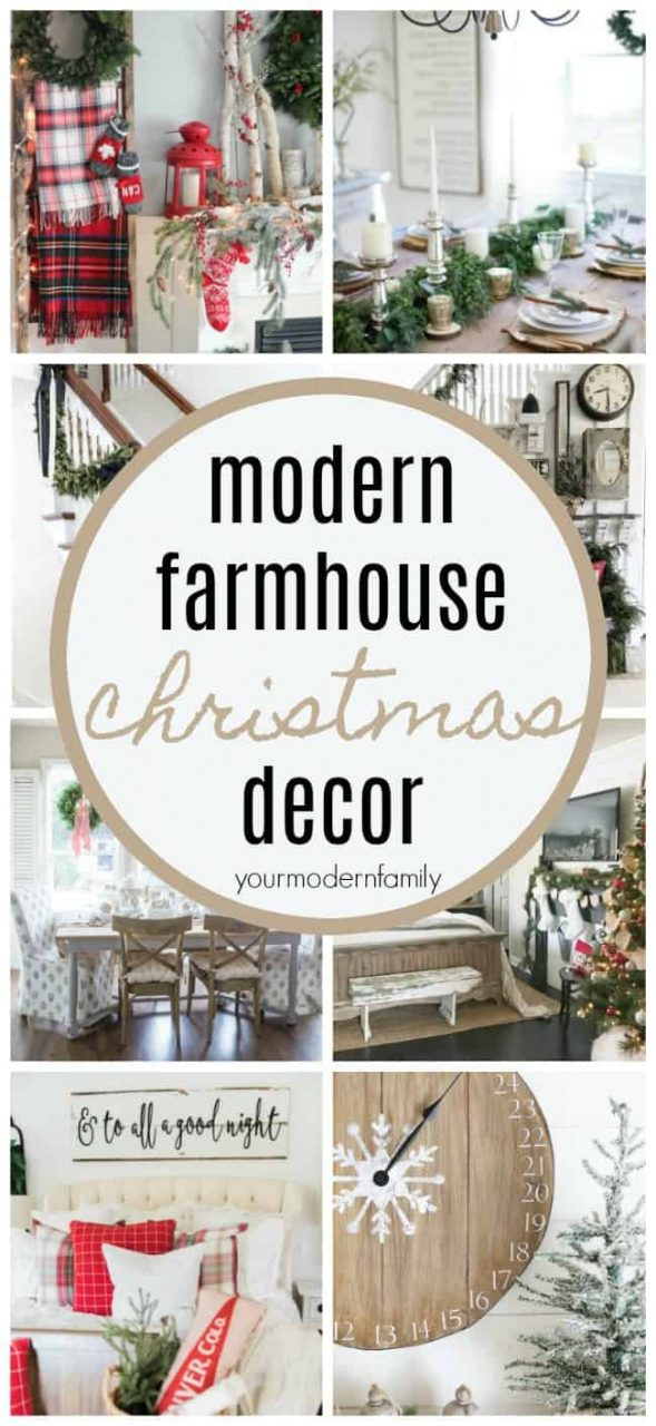 The Best Modern Farmhouse Christmas Decor Ideas Your Modern Family