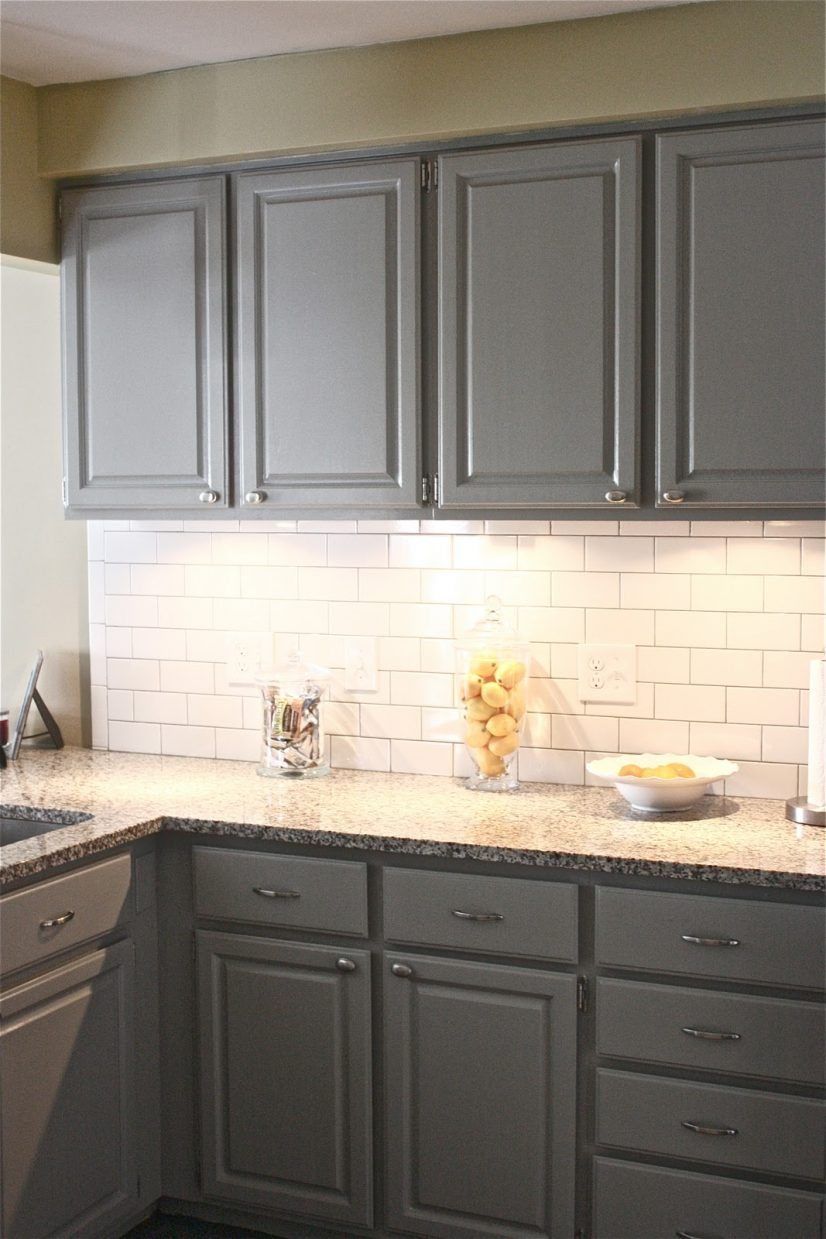 Tiles Backsplash Lovable White Subway Tile With Dark Grout Painted
