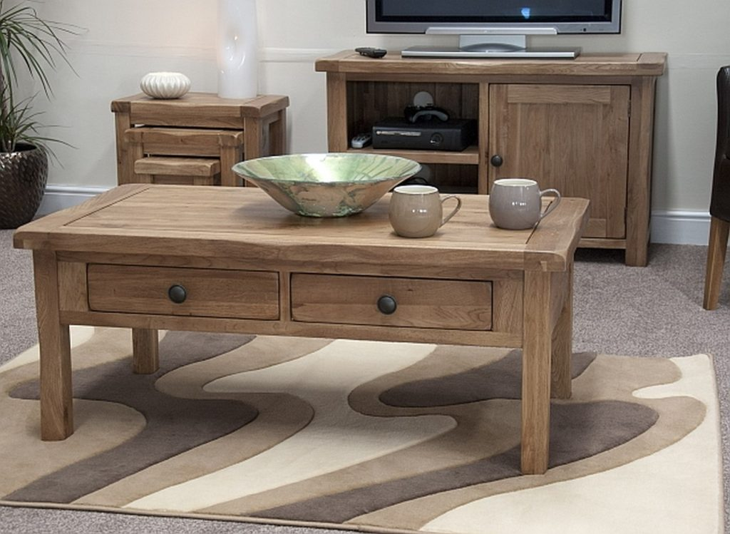 Tilson Solid Rustic Oak Living Room Lounge Furniture Coffee Table Ebay