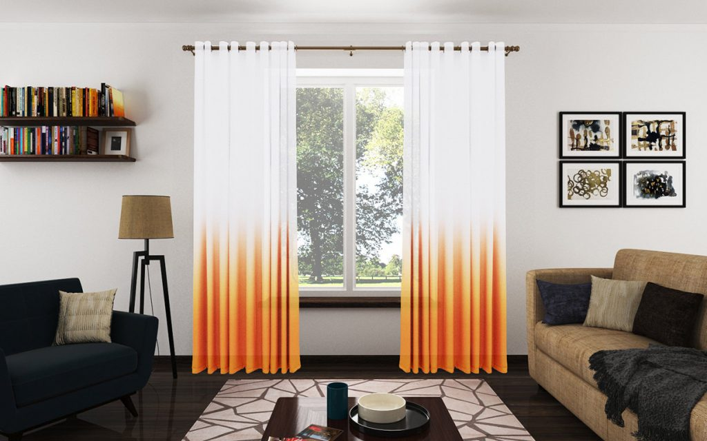 Trendy Orange Curtains For Living Room Nice Orange Curtains For