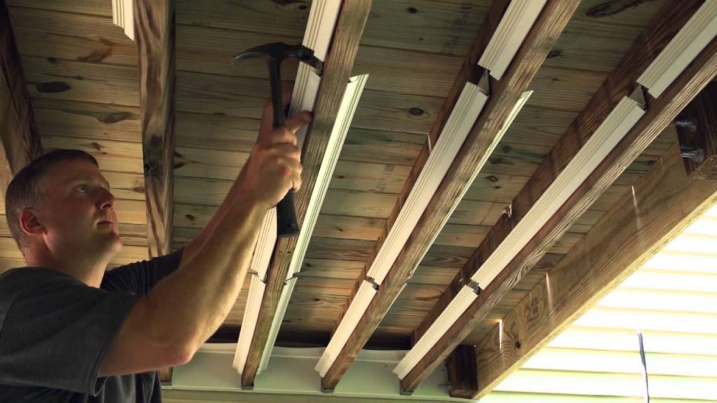 Underdeck The Original Outdoor Ceiling Installation 15 Youtube