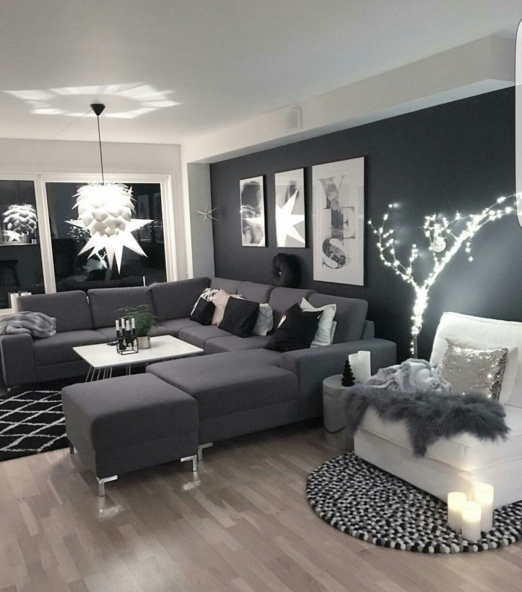 Unique Design White And Silver Living Room Living Room27 Black White