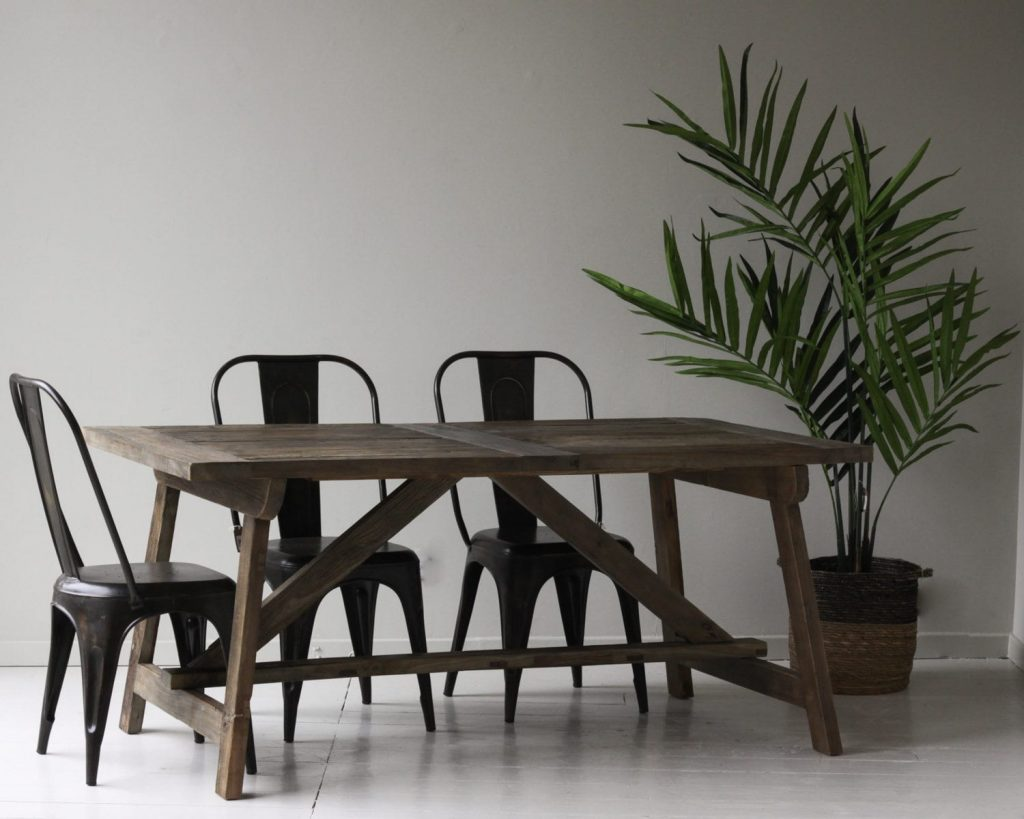 Vale Reclaimed Elm Dining Table Furniture Tables Willow