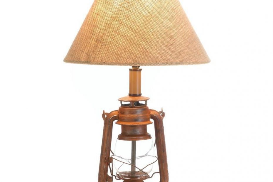 Vintage Old World Style Camping Lantern Table Lamp Unbranded