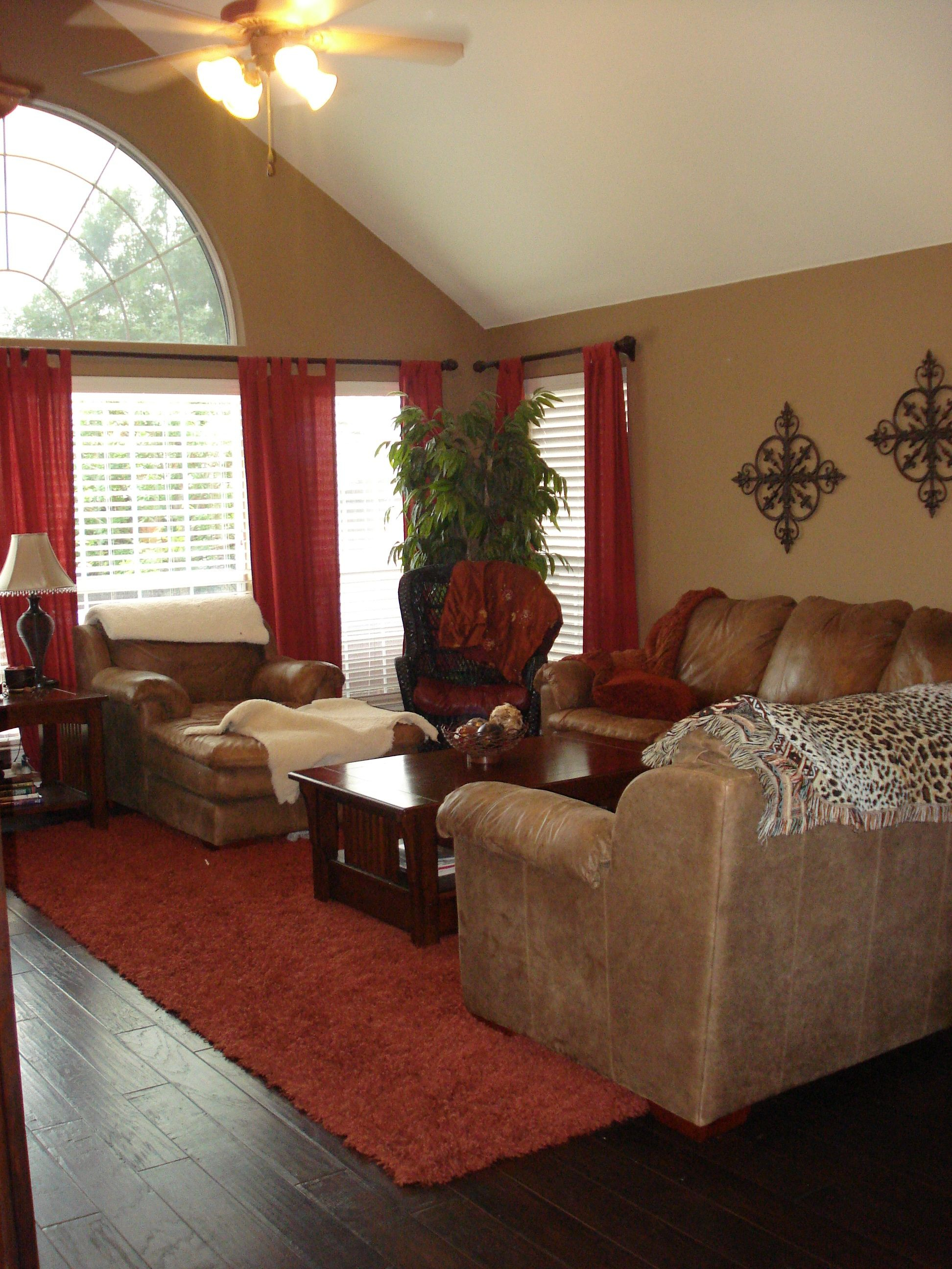 Warm Family Room Reds And Browns For The Home Living Room Layjao