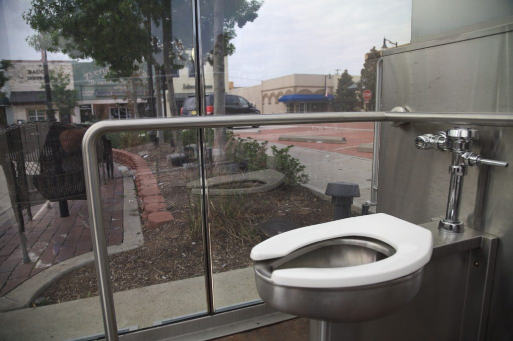 We Take A Whiz In Americas Only See Thru Public Toilet Two Lane