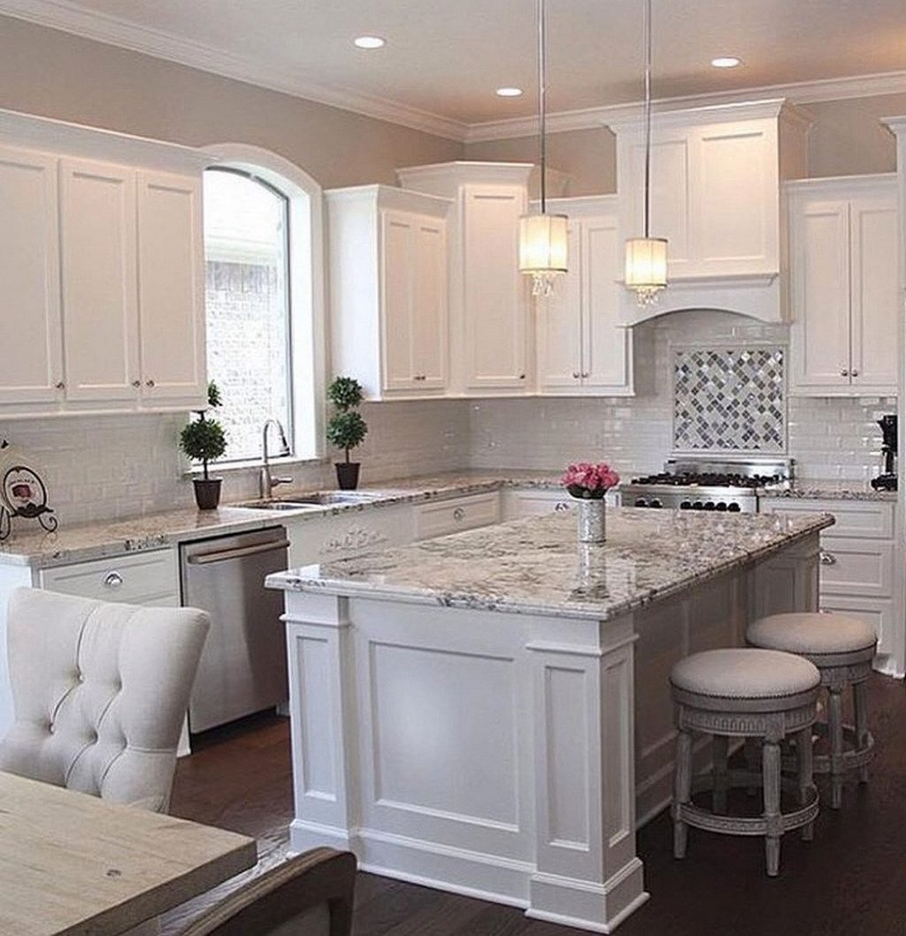 White Cabinet Kitchen Design Ideas Small Kitchens With Cabinets