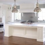 White Gray Glaze Kitchen Island With Marble Counter Grey Turned