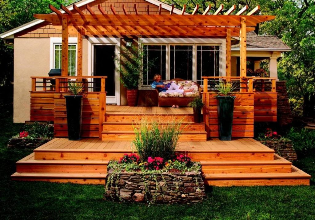 Wooden Decks For Mobile Homes Wood Deck Design Ideas Beautiful Roof