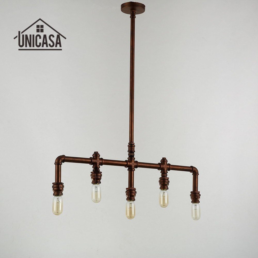 Wrought Iron Pendant Lights Vintage Industrial Lighting Office Bar
